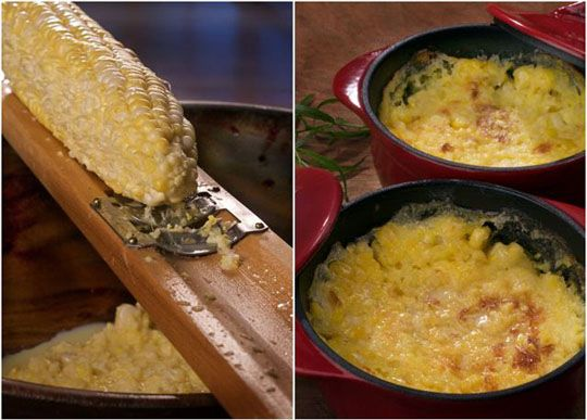 Baked buttered corn, from Michael Ruhlman.