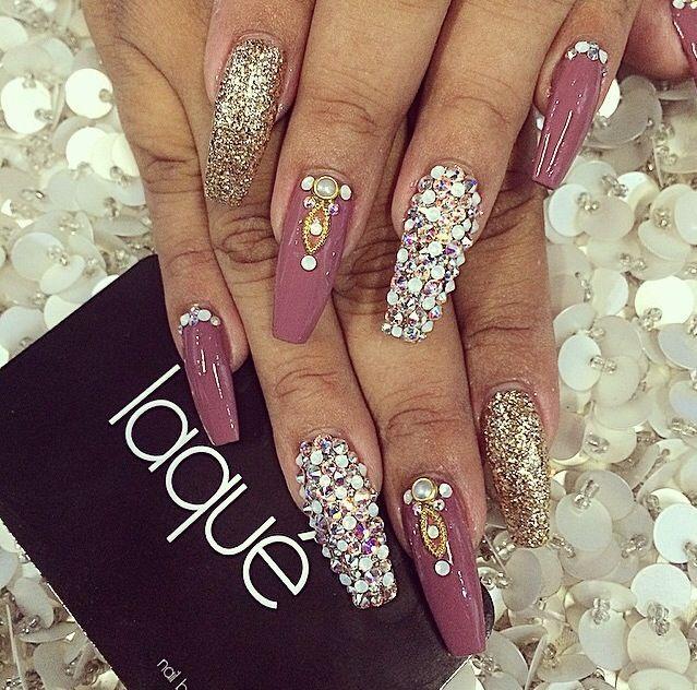 Purple, Rhinestones, Glitter