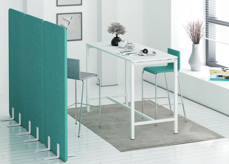 MOON high chairs, NOVA high table, FREE STANDING acoustic partitions | Narbutas