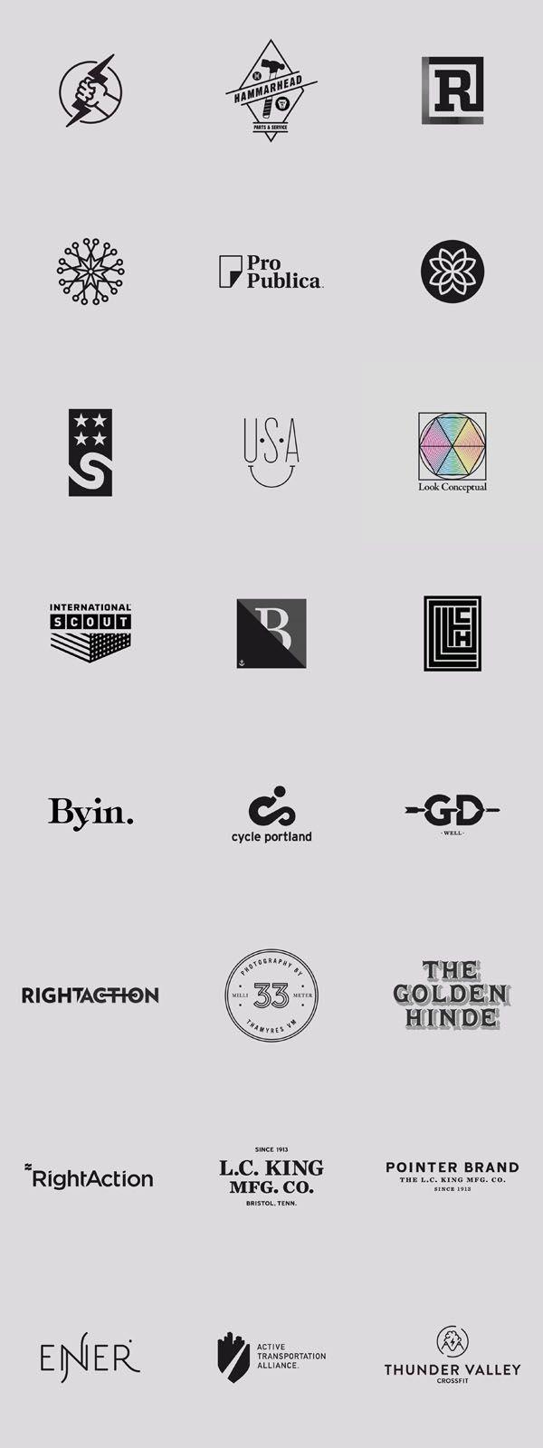 Logo Design Inspiration - Graphics by Daniel Blackman #logos