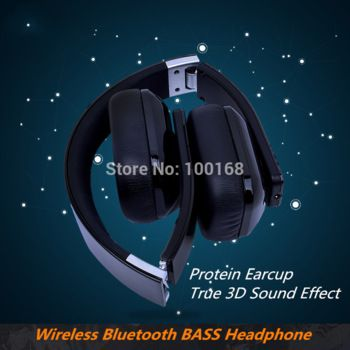 Foldable wireless bluetooth Headphone Protein earcup DHL Free shipping