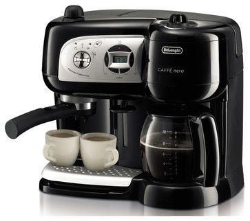 DeLonghi - Cafe Nero Combo Coffee and Espresso Maker - contemporary - Coffee Makers And Tea Kettles - BuilderDepot, Inc.