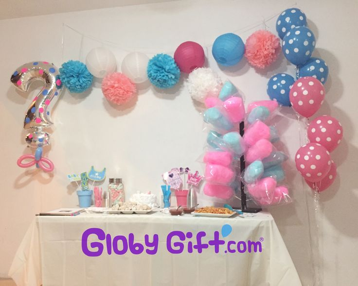 Globos para decorar fiesta de revelación del sexo del bebé / Balloon decorations for gender reveal party