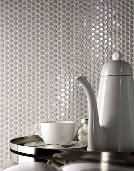 75 best images about penny round tile ideas on pinterest for Unusual kitchen wall tiles