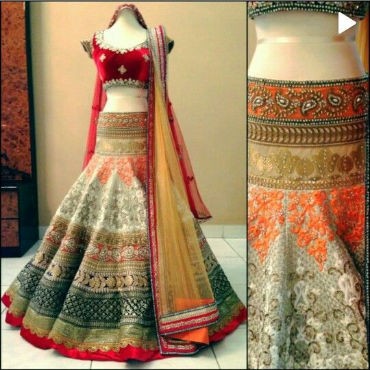 Misch B bridal lehnga #saree #indian wedding #fashion #style #bride #bridal party #brides maids #gorgeous #sexy #vibrant #elegant #blouse #choli #jewelry #bangles #lehenga #desi style #shaadi #designer #outfit #inspired #beautiful #must-have's #india #bollywood #south asain