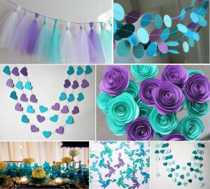 purple and teal wedding decorations UK