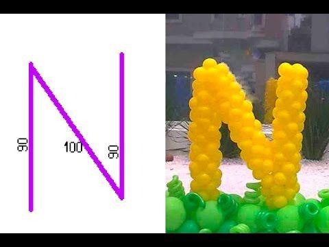 Como fazer letra em vergalh o n nome de bal o for Balloon decoration ideas youtube