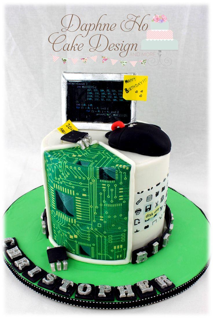 Laptop Shaped Birthday Cake