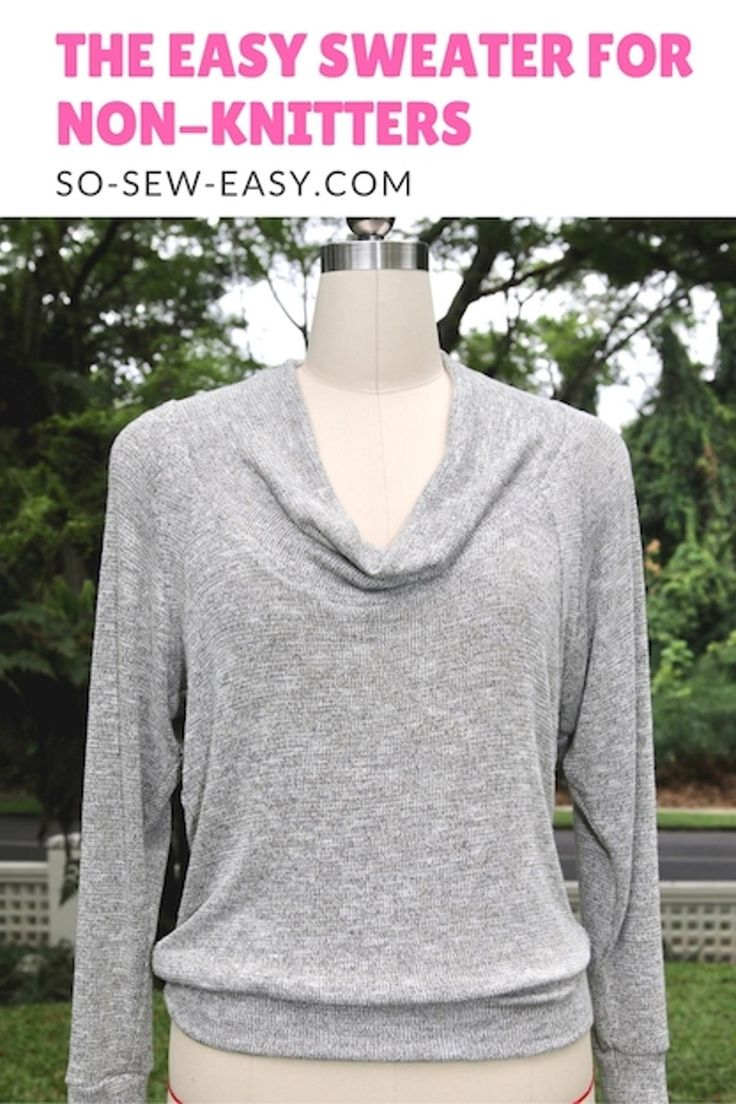 Freebook (englisch) Easy Sweater - Pullover size 8-22