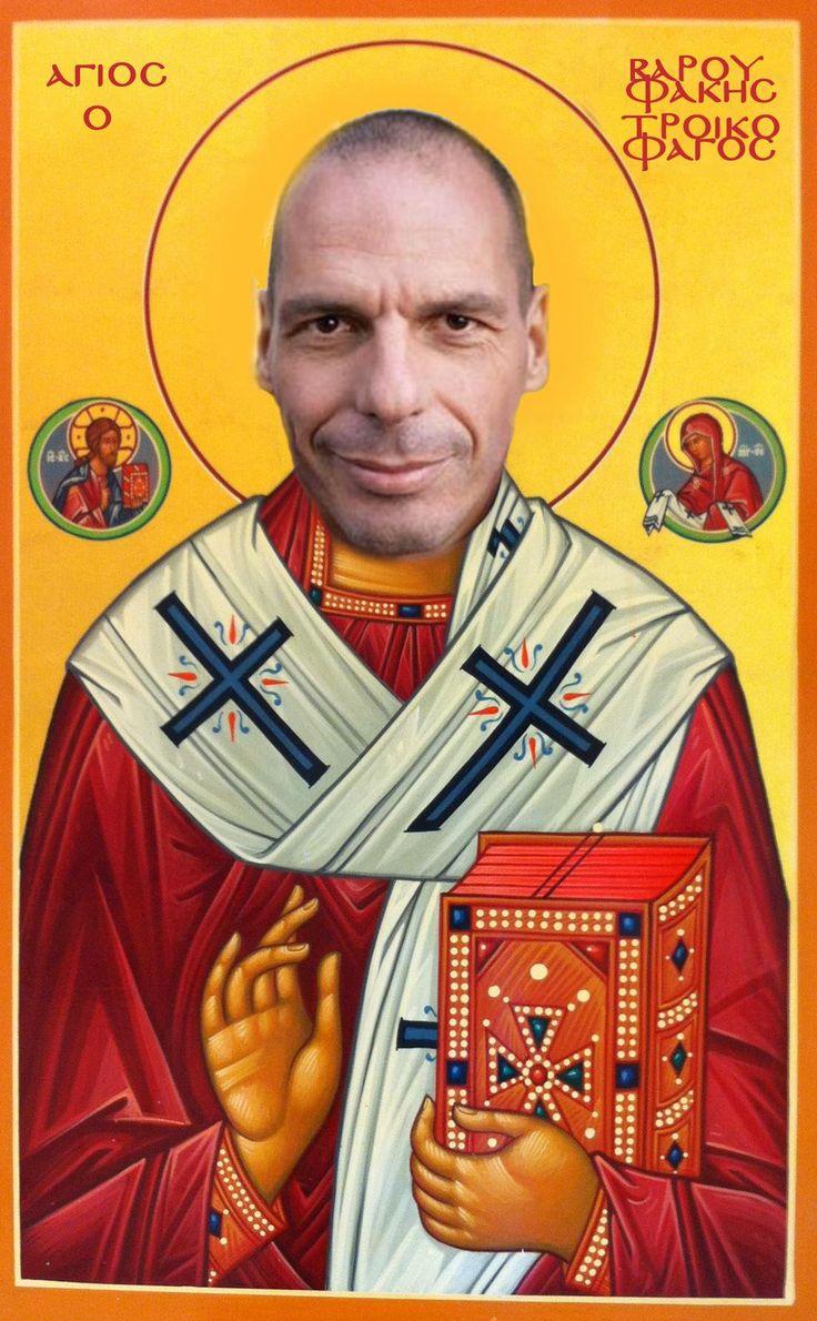 """""""Saint Varoufakis the Troikaeater"""" Tweets about #Varoufakis hashtag on Twitter"""
