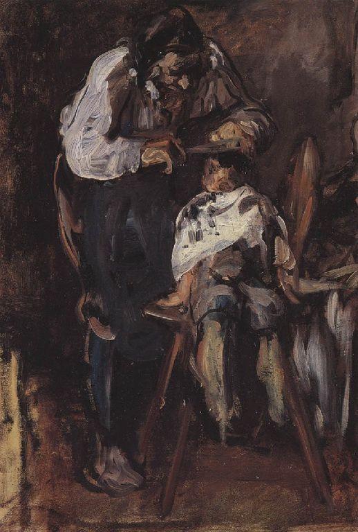 .:. Γύζης Νικόλαος – Gyzis Nikolaos [1842-1901] Ο κουρέας_2