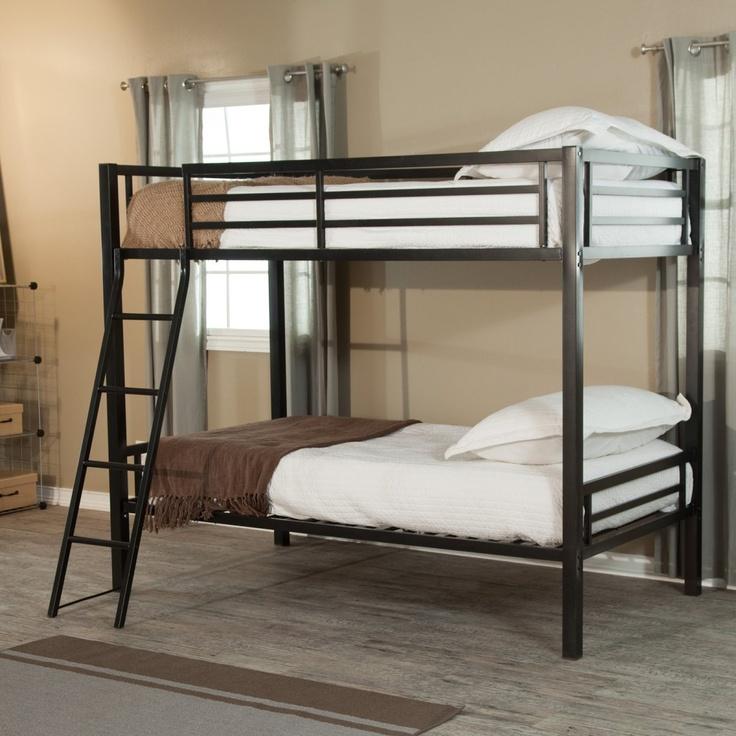 Duro Hanley Twin over Twin Bunk Bed - Black