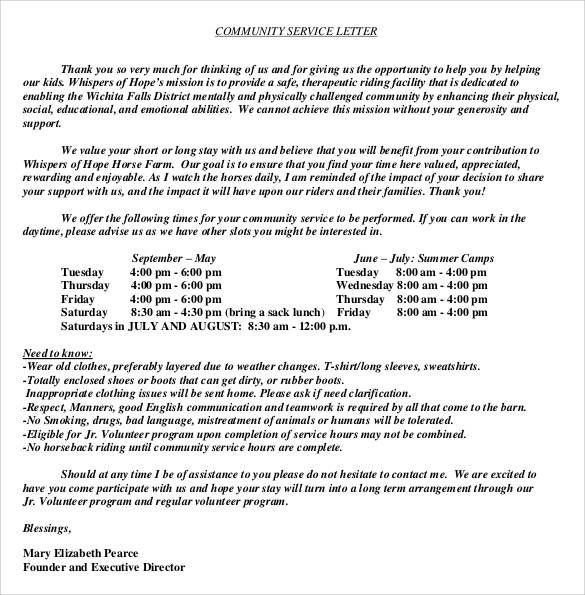 Sample Community Service Hours Letter from i.pinimg.com