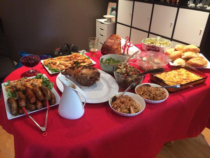 Christmas lunch spread