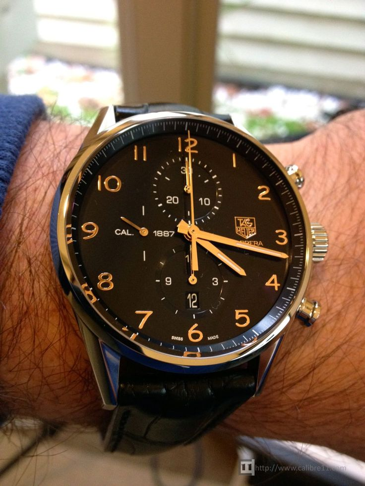 Black with Gold, more class like, with a business price tag.. - TAG Heuer Carrera Calibre 1887 43mm