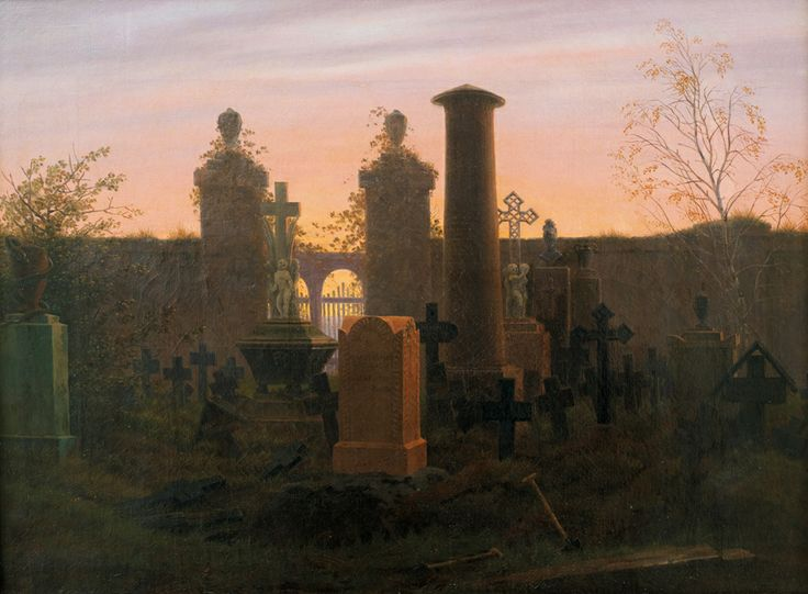 Caspar David Friedrich (1774–1840) Kügelgen's Tomb, 1821/22, Oil on canvas, 41,5 × 55,5 cm Die Lübecker Museen, Museum Behnhaus Drägerhaus, on loan from private collection