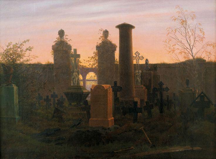 Caspar David Friedrich (1774–1840) Kügelgen's Tomb, 1821/22, Oil on canvas, 41,5 × 55,5 cm Die Lübecker Museen, Museum Behnhaus Drägerhaus, on loan from private collection