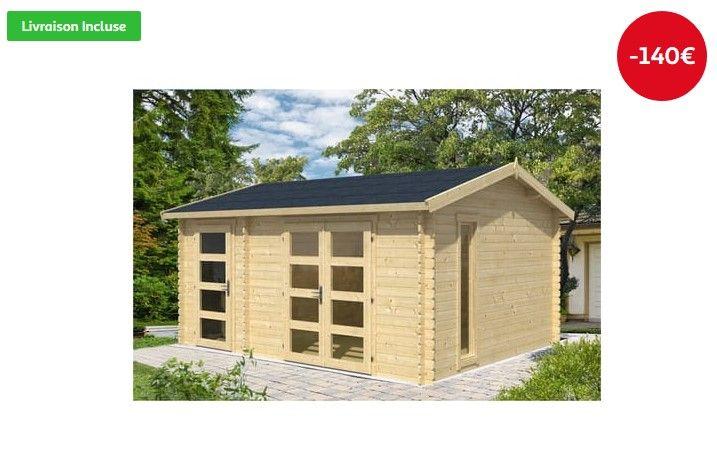 Abri de jardin bois CARROZ 16.00m² 28mm
