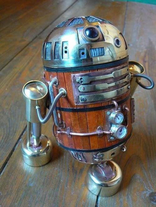 Steampunk R2-D2 - This fits in my Geeky / Freaky Awesomeness board, but it I also posted it in my Wish List board because it is THAT awesome!!!! Gotta have one!  :)