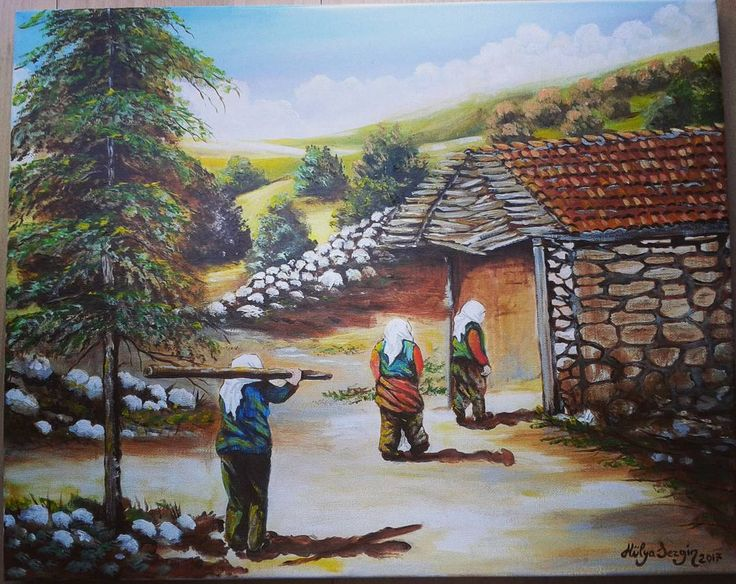40x50 cm #emekçi #kadınlar #yörük #abstractpainter #abstract #artists #naifressam #naifresim #naif #artlife #galleryart #tablolar #hulyasezgin #sanat #resim #ressam #eskievler #köy #artoil #art �� #artwork http://turkrazzi.com/ipost/1521228870162193533/?code=BUcfZj8Fhx9