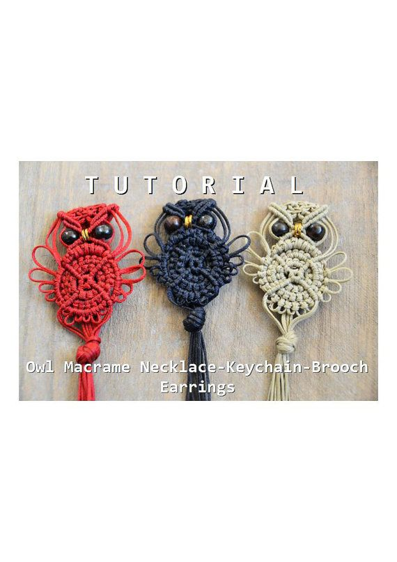 MACRAME OWL TUTORIAL  This lovely, simple pattern is a step by step tutorial completed with detailed pictures and text Italian/ English.  I like to