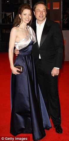 Split: Elon Musk, 40, and Talulah Riley, 28, pictured here last February, are getting a divorce