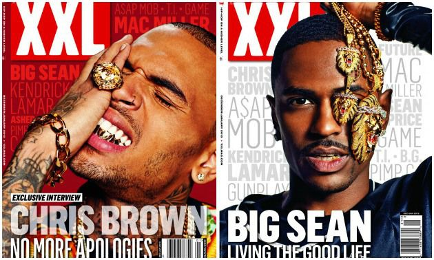 "Chris Brown and Big Sean pose for their new Illuminati membership cards on the cover of XXL. Chris Brown's new album ""Carpe Diem"" drops top of 2013."