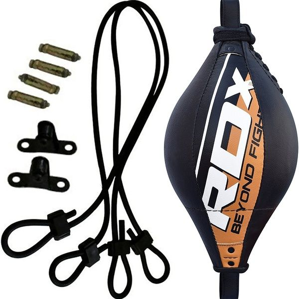 Double End Boxing Ball MMA Training Punch Speed Bag Fitness Gym Ceiling Leather