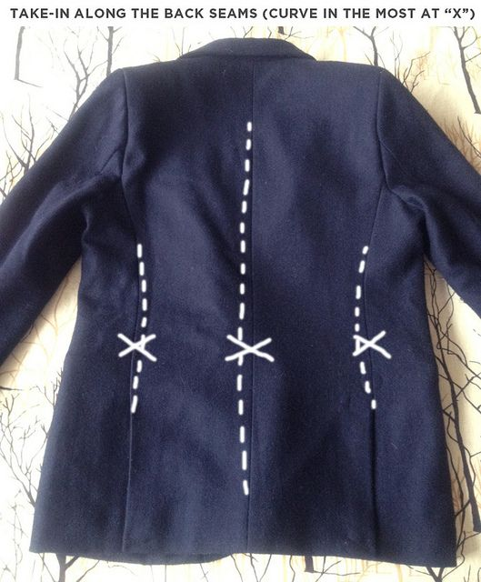 DIY: Alter a boy's jacket to fit a petite female figure