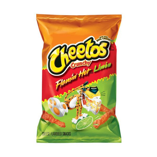 Cheetos Crunchy Flamin' Hot Limon Cheese Flavored Snacks, 9.5 oz ❤ liked on Polyvore featuring food, food and drink and fillers