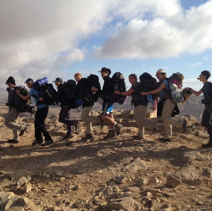 This is me and my hiking club on mount Arif in israel