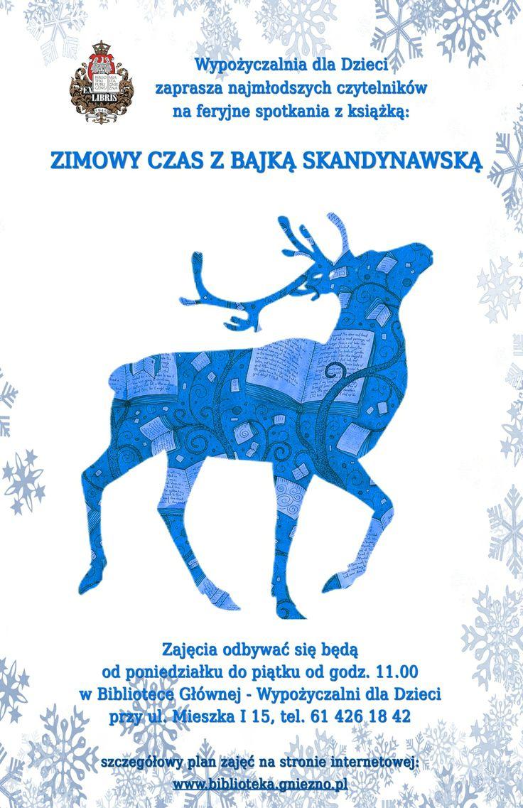 Zimowe ferie w gnieźnieńskiej bibliotece / Winter holidays in Gniezno's library!