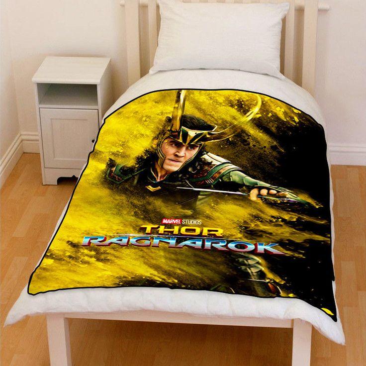 Thor Ragnarok Loki Bedding Fleece Throw Blanket Gifts   Home & Garden, Bedding, Blankets & Throws   eBay!
