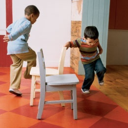 I have a lot of non-competitive games for preschoolers in my arsenal. Toddlers and preschoolers really don't need or miss the competition, and there are no tears -- only fun!