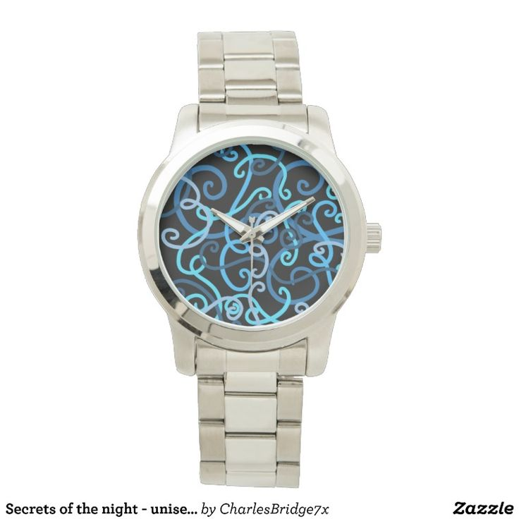Secrets of the night - unisex spiral design wristwatch - design by Charles Bridge 7x, buy in The Spiral Store