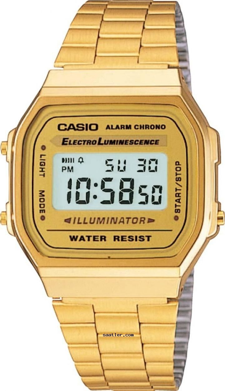 Casio A-168WG-9WDF Kol Saati - https://www.saatler.com/casio-a-168wg-9wdf-kol-saati/ - #casio #saatler  Casio A-168WG-9WDF Retro Kol Saati altın renginde kasası ve altın renginde kayışıyla otomatik özelliği ile retro klasik bir unisex saattir. Aynı zamanda kronometre alarm ve takvim özelliklerine sahiptir. Suya dayanıklı olup su geçirmezlik özelliği 3ATMdir. Yani rahatlıkla ellerinizi yıkayabilir ya da ıslak nemli ortamlarda bulunabilirsiniz.  Retro ne demek?  Retro terimi modada oldukça sık…