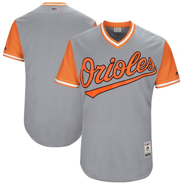 Men's Baltimore Orioles Majestic Gray 2017 Players Weekend Authentic Team Jersey