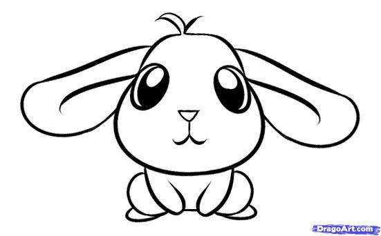 How to Draw a Simple Rabbit, Step by Step, forest animals, Animals, FREE Online Drawing Tutorial, Added by Dawn, May 28, 2010, 9:53:06 am