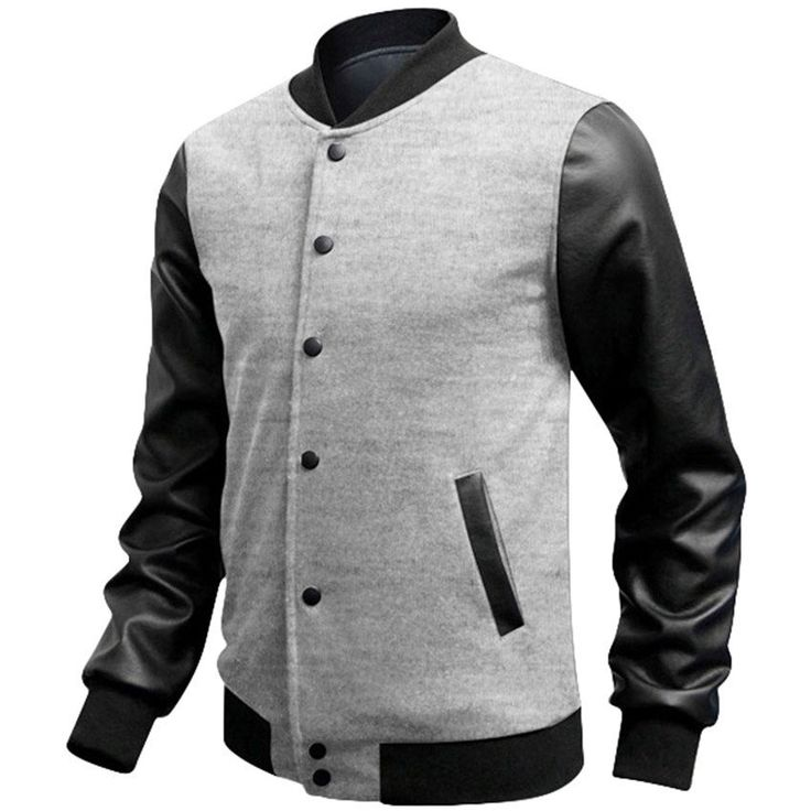 Slim Casual Baseball Jacket (4 colors)