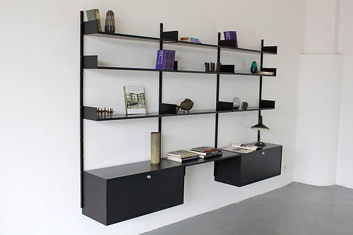 606 shelving system by dieter rams 1960 vitsoe regal system made. Black Bedroom Furniture Sets. Home Design Ideas
