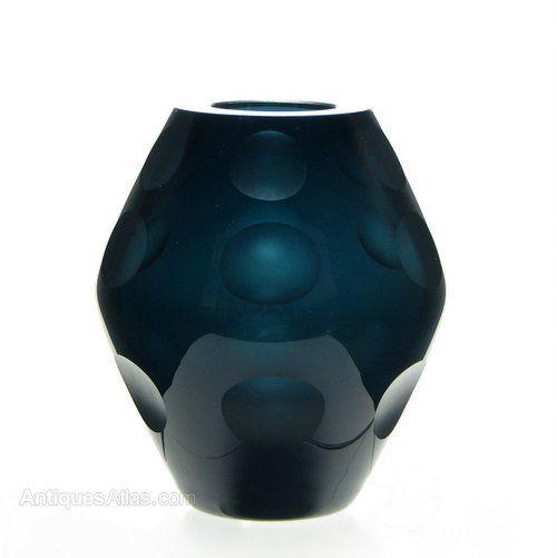 Erich Jachmann WMF Glass Vase c1950