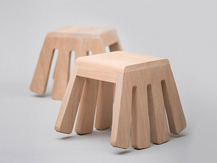 Itty Bitty - rocking chair by Melvn Ong silla madera asiento banco patas