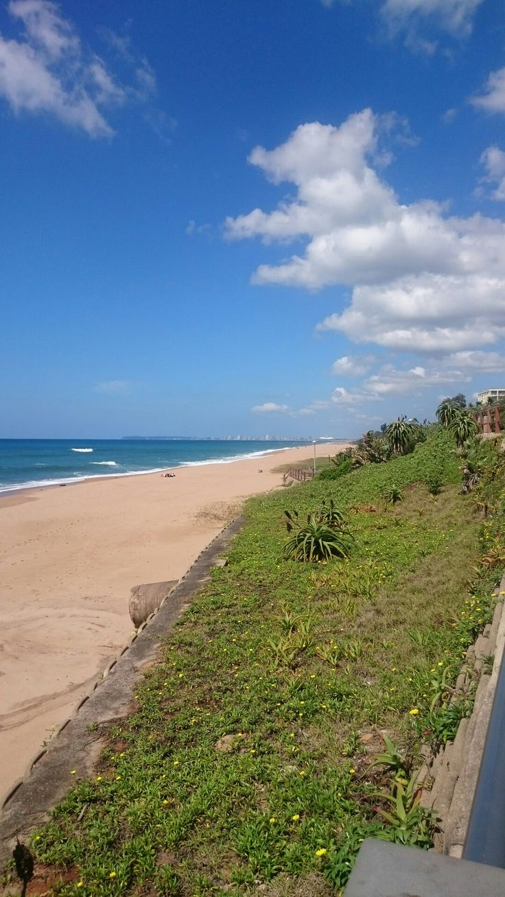 At end of promenade in Umhlanga. Durban in the distance