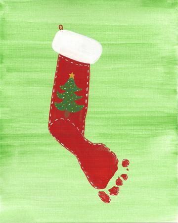 Kids Footprint Ideas Footprint Christmas Stocking Kids