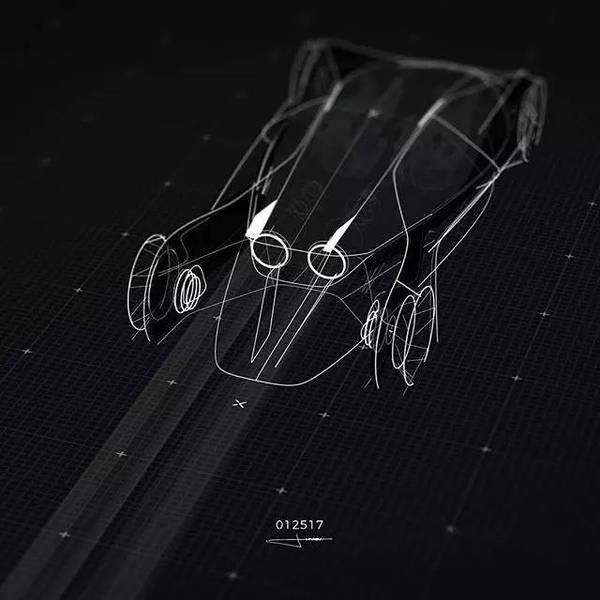 在instagram上超火的设计师sydney Hardy又一震撼大作 自動車 スケッチ
