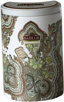 Flot hvid metal dåse fra Basilur Tea. Dåsen er fra Oriental Collection og er et samle objekt.