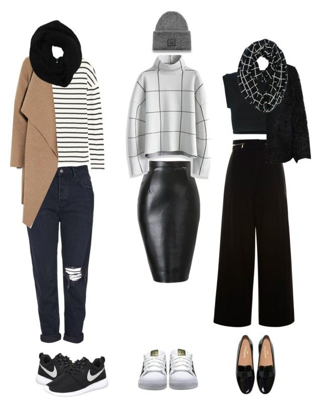 """""""street style: winter time!"""" by srsstreetcouture on Polyvore featuring Chicwish, adidas Originals, Proenza Schouler, LE3NO, Topshop, Acne Studios, J.Crew, Harris Wharf London, Wyatt and NIKE"""