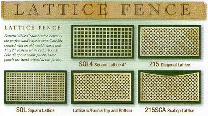 Square Lattice Fence Panel Google Search Lattice Fence
