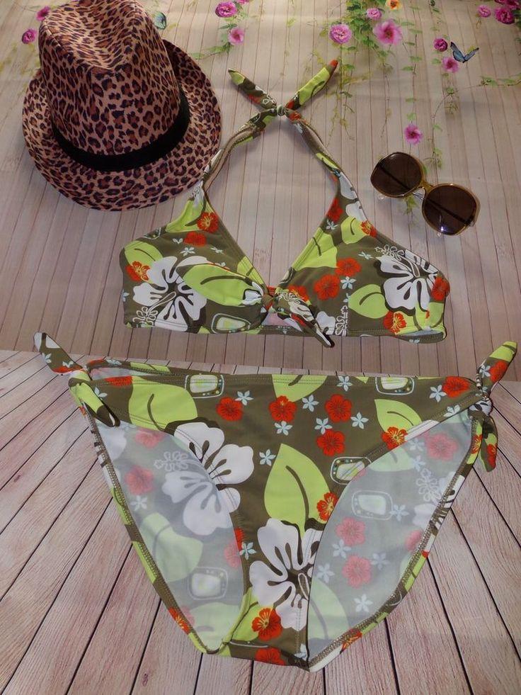 Women's Xhilaration Green Hawaiian Two Piece Bikini Swimsuit   | eBay