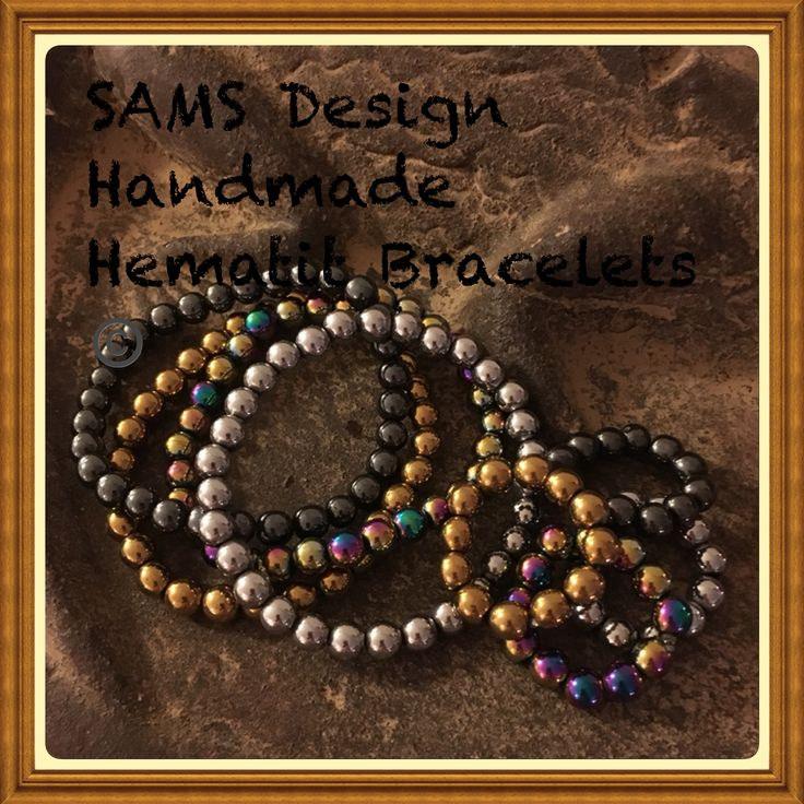 Hematit bracelets Hematit armband SAMS Design Handmade Göteborg Sverige Gothenburg Sweden